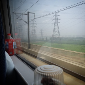 View from the high-speed rail to Shanghai.