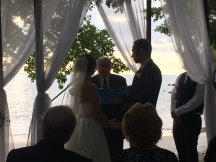 Oh yeah, and the Piasecki's got married on the beach.